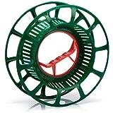 com-four® Kabelaufroller - Kabeltrommel leer aus Kunststoff - Seiltrommel als Organizer für Kabel, Lichterketten, Bänder und Drähte (01 Stück - Aufroller)