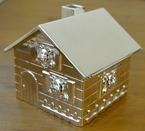 Con texto en inglés 11 cm hucha de fotos - 3 cerditos House