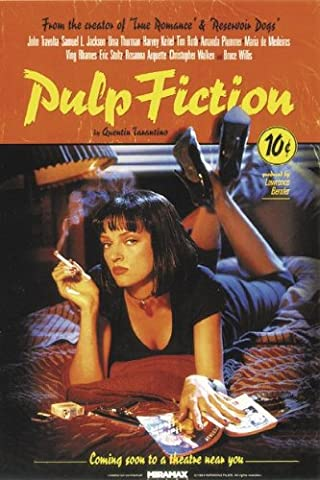 Poster Pulp Fiction (68,5cm x 101,5cm) + un poster Bora Bora en cadeau!