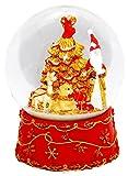 20023 Palla di neve Babbo Natale con carillon, rosso, grande