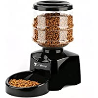 isYoung Comedero Automático de Alimentos para Mascotas, Alimentador de Mascotas de Control Electrónico con Gran Pantalla LCD y Registro de Voz - para Gatos y Perros.
