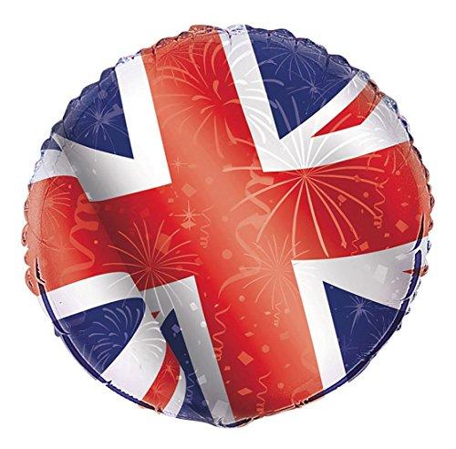 Islander Fashions British Union Jack Folie Gro�britannien Ballon 18 Zoll Partei Feier Zubeh�r Einheitsgr��e