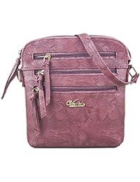 Serra Paris Women's Sling Bag (Available In Dark Tan, Wine, Peach, Light Brown, Rose Pink, Sand, Beige & Yellow )