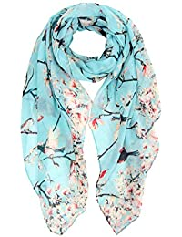 57dae6edb462 Ladies Women s Fashion Butterfly Print Long Scarves Floral Neck Scarf Shawl  Wrap by DiaryLook
