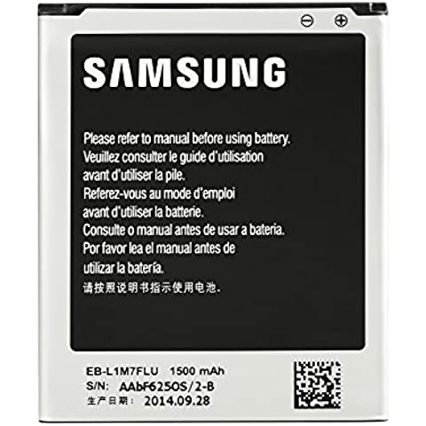 Samsung EB-F1M7FLU 1500mAh - Batería Li-Ion para Galaxy S3 mini, 3 Gold Pin