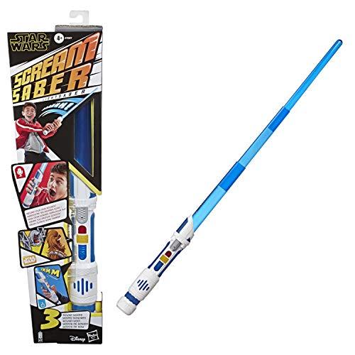 Star Wars Scream Saber Lichtschwert Spielzeug, die eigenen Lichtschwert Sounds aufnehmen und battlen, für Kids, Rollenspiel, ab 4 Jahren