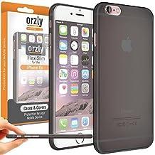"Orzly® - FLEXISLIM SUPER SLIM CASE (0.3mm) for iPHONE 6 (Smallest Model / 4.6 inch) - Caja DURO Funda en Semi Transparent NEGRO - Diseñado por Orzly® exclusivamente para APPLE IPHONE 6 (PEQUEÑO VERSION - 4.7"" Modelo) - 2014 Model SmartPhone / Teléfono Móvil / Mini Phablet / Small iPhablet"