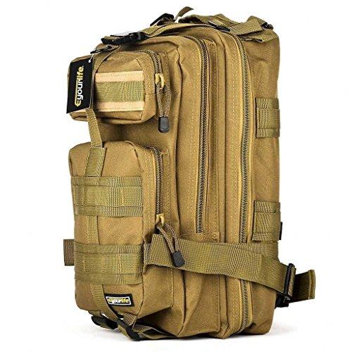 Imagen de eyourlife  militar táctica molle para acampada camping senderismo deporte backpack de asalto patrulla para hombre mujer caqui puro 20l