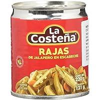 La Costeña Jalapeño Rajas - Paquete de 24 x 220 gr - Total: 5280 gr