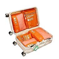 Qearly - Portatrajes de viaje naranja naranja