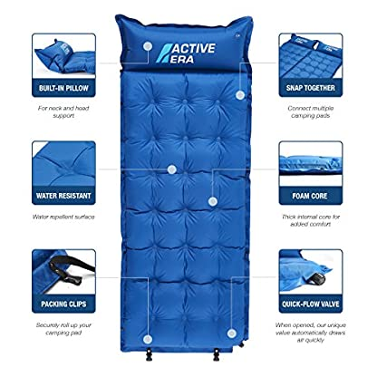 Active Era Self-Inflating Camping Pad with Pillow and Air Pockets | Lightweight and Comfortable Foam Sleeping Pad 3