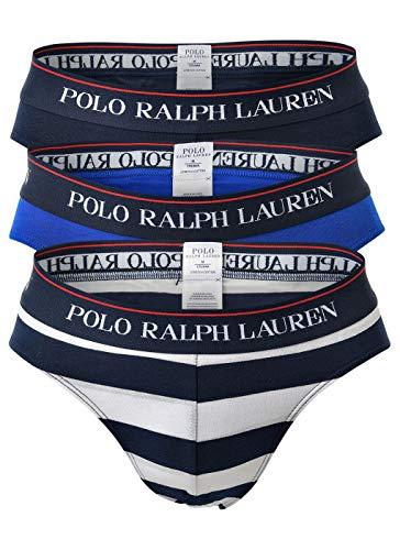 POLO RALPH LAUREN Slip da Uomo Confezione da 3 Low Rise Briefs Stretch Cotton XL