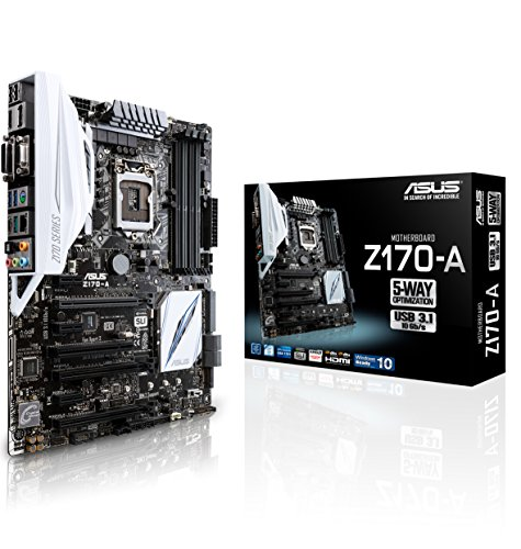 ASUS Z170-A Mainboard Sockel 1151 (ATX, Intel Z170, 4X DDR4-Speicher, USB 3.1, M.2 Schnittstelle) (Sound, Video, Motherboard)