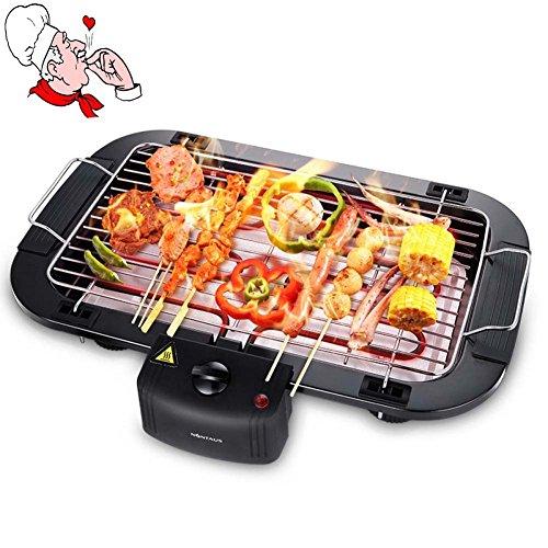 Gril Barbecue Maison Sans Fumée électrique Plat De Cuisson Chafing Barbecue Machine Teppanyaki 1500W, 35 CM * 46 CM * 80 CM