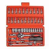 Showhas Mini-Drehmomentschlüssel-Set, Steckschlüssel, Ratschengriff Hex-Schlüssel, Schraubendreher-Set
