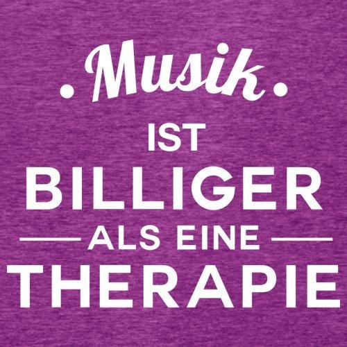 Musik ist billiger als eine Therapie - Damen T-Shirt - 14 Farben Beere