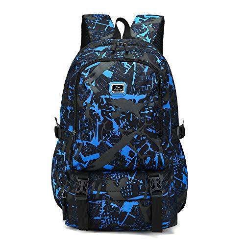 bestshope Mode Herren Rucksäcke, Bunter Drucken Muster Daypacks Schulrucksack Handtasche Groß Beuteltasche Reisetasche Reißverschluss Bergsteigenbeutel für Jugendliche Damen Männer Frauen Mädchen