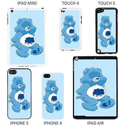 Image of Care Bear cartoon cover case for Apple iPad Air - Black - T757 - Grumpy