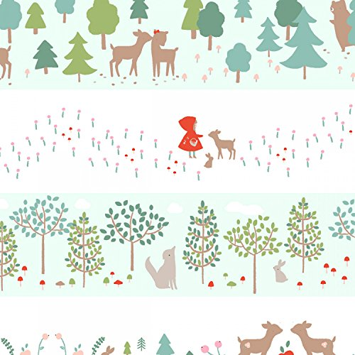 Dear Stella Rot Riding Hood Stoff-Rot, Reiten Kapuze Streifen ds053-100% Baumwolle-von 0,5m (Red Riding Kleid)