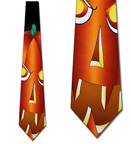 Three Rooker Halloween-Krawatte Kürbis Krawatte Jack-o-Lantern