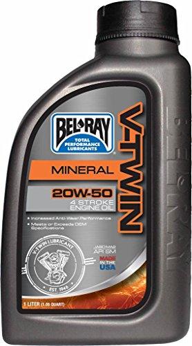 Flasche Motoröl 1L Bel-Ray 4T V Twin V-Twin Mineral 20W-50
