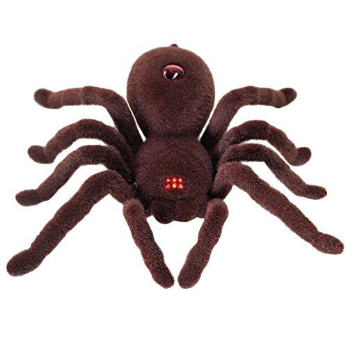 Zantec Fernbedienung Infrarot Realistisches RC Spinnenspielzeug 2CH für Kinder Halloween Weihnachtsgeschenk für Streich Trick (Kostüm Kopf Roboter)