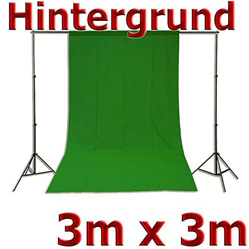 Fotohintergrund Hintergrund für Fotostudio Baumwolle Green Screen Grün 3x3m, 300x300cm