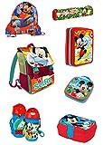 Edel* 7tlg. Disney Mickey Mouse Schulranzen Set Schulrucksack Jungen Mädchen