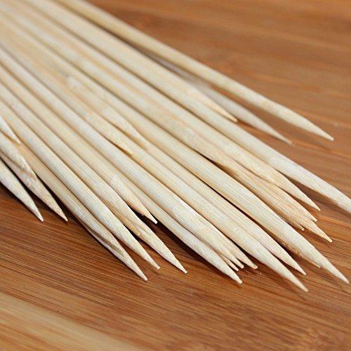 51Ua42NOd3L - Lumanuby 90 x Holz Grillspieße Marinaden Sticks, Einweg-Grill Utensilien Bambus Party Sticks, perfekt für BBQ Fleisch, Steaks vieles mehr (20 cm)
