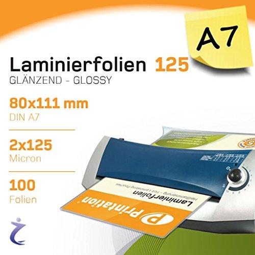 111 x 154 mm 2 x 125 mic glänzend Laminierfolien A6