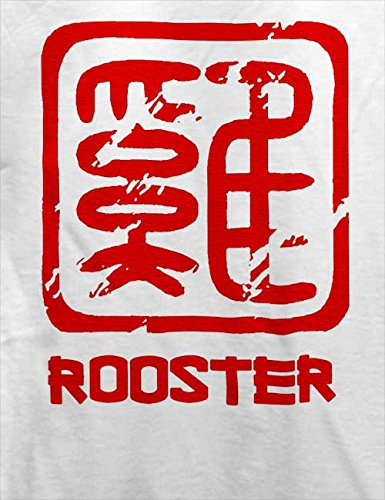 Chinese Signs Rooster T-Shirt Weiß