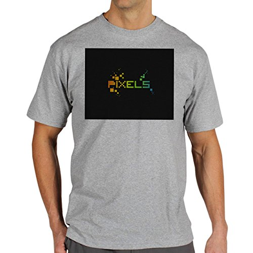 Pixels By Megical Background Herren T-Shirt Grau
