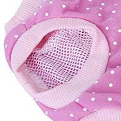 ELECTROPRIME Pet Dog Sanitary Pant Panty Diaper Brief Size M - Pink with White Dots