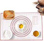 FlixxeR 60x40CM Silicone Baking Mat, Thick Pizza, Pan Cake, Pastry and Bread Rolling Reusable Cutting Board Ma