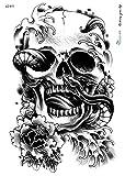 TATTOO SCHWARZ Arm Oberarm Tattoo Aufkleber Totenkopf Schlange LC811