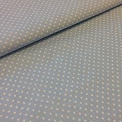 Tela por metros - 100% algodón - 150 cm ancho - Largo a elección de 50 en 50 cm - Ropa y accesorios de bebé | Topo blanco, azul