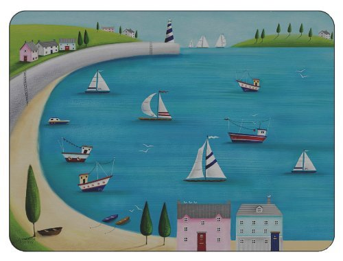 plymouth-pottery-harbour-view-manteles-individuales-juego-de-6