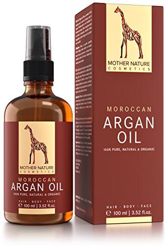 Mother Nature® - Aceite de Argán 100 ml | dosis alta, presionado en frío y no perfumado | Aceite base Anti-Aging para la piel, cara, cabello y uñas | hecho en el Reino Unido