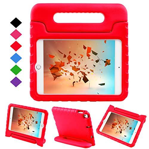 BelleStyle Kinder Hülle für iPad Mini 5 2019, Stoßfest Leicht Schutzhülle Cabrio Griff Ständer Abdeckung Fall für iPad Mini 5. Generation 7,9 Zoll 2019 Veröffentlichung und iPad Mini 4 2015 (Rot)
