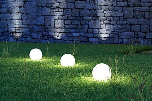 Bestseller 3 x LED Solarkugel Marla Solarleuchte Gartenleuchte mit Erdspieß, Durchmesser 15 cm, Kugelleuchte Gartenkugel