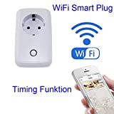 Seaidea Smart Socket Enchufe Inteligente WiFi Inalámbrico del Temporizador De Energía Interruptor Eléctrico Programable De Control Remoto Con Función De Sincronización, Gratuito IOS / Android App