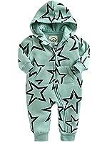 [Free Shipping]Vaenait Baby 0-24 Months Infant Winter Fleece Jumpsuit Rompers Twinkle Mint S