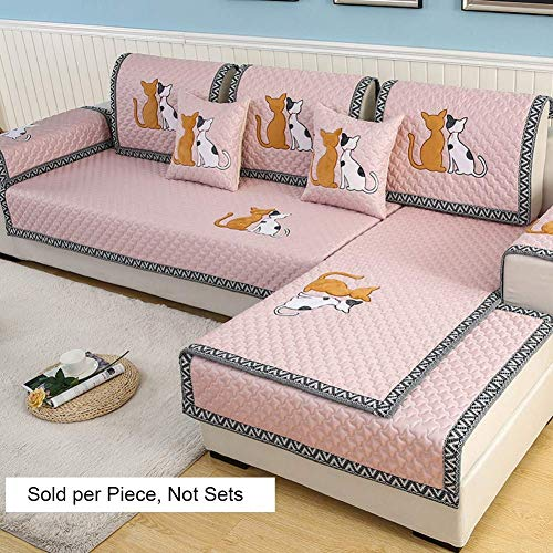 HZC Funda de sofá Funda de Funda Acolchada for Gatos Funda de sofá seccional for niños Perros Mascotas Nordic Protector...