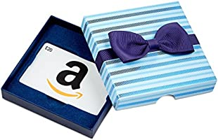 Amazon.co.uk Gift Card - In a Gift Box - £20 (Blue Bow Tie)
