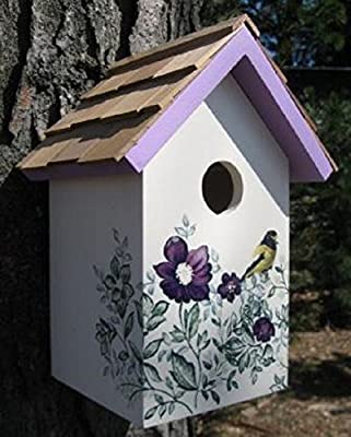 GARDEN BAZAAR HB-9075PACS Salt Box Anemone Bird House - White-P