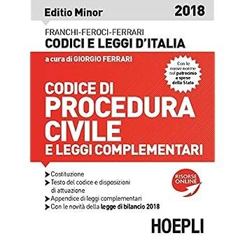 Codice Di Procedura Civile 2018. Ediz. Minore