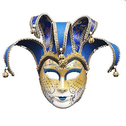 ZHAORLL Venezianische Maske Maskerade Maske Persönlichkeit Karneval Make-Up Halloween Kostüm Kleid Ball Party Dekoration Supplies Maske,C