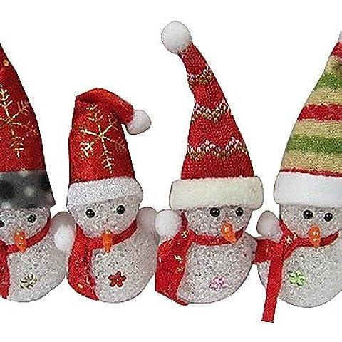 Navidad muñeco de nieve EVA Cristal Cambio de color luz nocturna