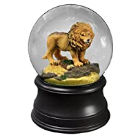 Proud Lion Water Globe The San Francisco Music Box Company