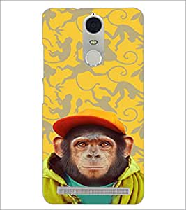 PrintDhaba Cute Monkey D-3653 Back Case Cover for LENOVO K5 NOTE (Multi-Coloured)